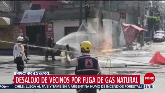 Foto: Desalojan Vecinos Fuga Gas Natural Gam Hoy 6 Enero 2020
