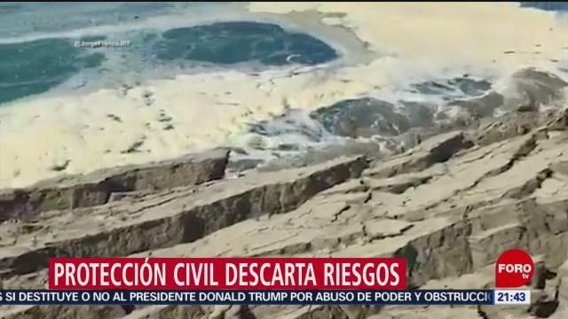 Foto: Riesgo Hundimiento Playa Puerto Escondido Oaxaca 31 Enero 2020