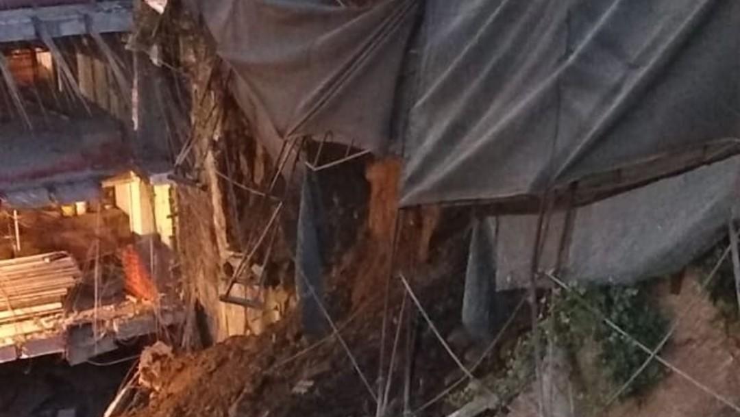 FOTO: Ocurre deslave en fraccionamiento de Cuajimalpa, el 18 de enero de 2020