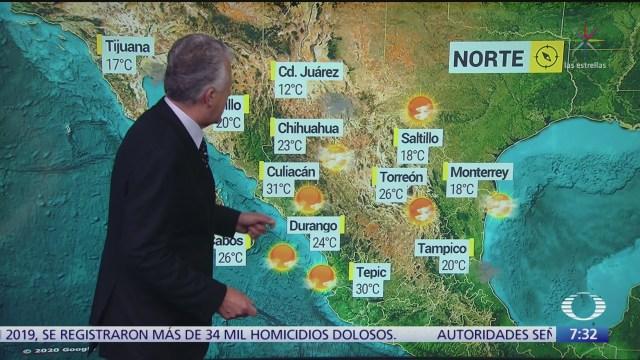 despierta con tiempo condiciones estables y frio al norte de mexico