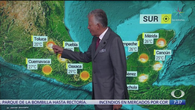 despierta con tiempo lloviznas al norte de la republica mexicana