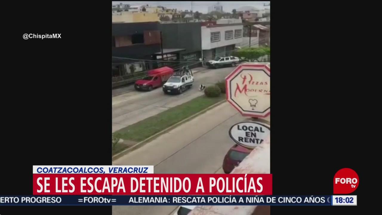 FOTO: detenido se les escapa a policias de coatzacolacos