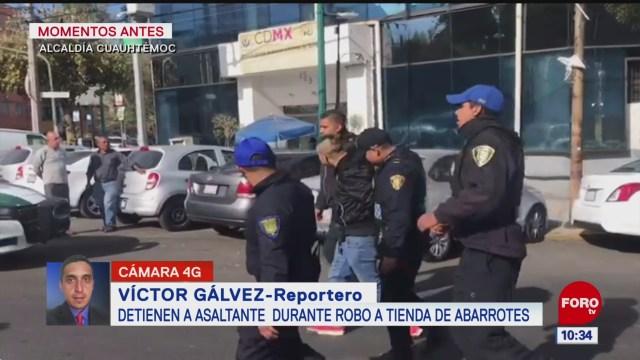 Foto: detienen a asaltante que agredio a tendero en la alcaldia cuauhtemoc cdmx, 3 de enero de 2020