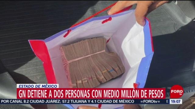FOTO: 4 enero 2020, detienen a dos personas con 500 mil pesos en el estado de mexico