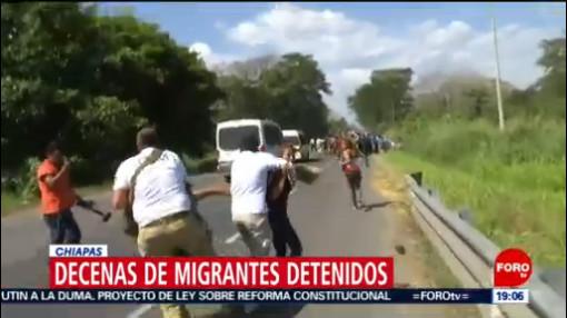Foto: Detienen Migrantes Agresión Guardia Nacional Chiapas 20 Enero 2020
