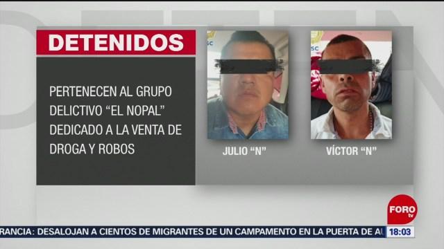 FOTO: detienen a narcomenudistas y ladrones que operaban en cdmx