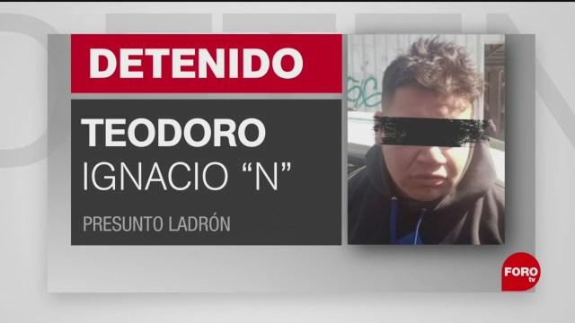 FOTO: detienen a sujeto por robo a tienda departamental en iztacalco