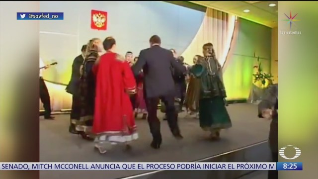 divulgan video de putin y bush bailando