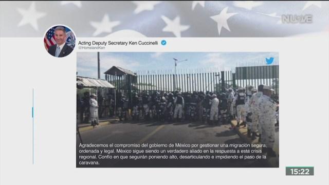 FOTO: eeuu agradece esfuerzos de mexico para frenar a migrantes