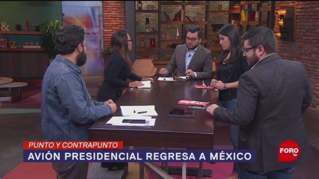 Foto: Avión Presidencial Regreso México 15 Enero 2020