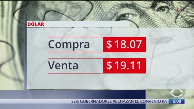 el dolar se vendio en 19 11 en la cdmx