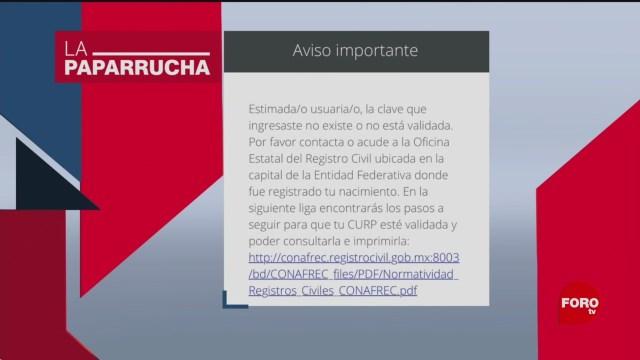 Foto: Eliminación Masiva Curp Noticias Falsas 17 Enero 2020