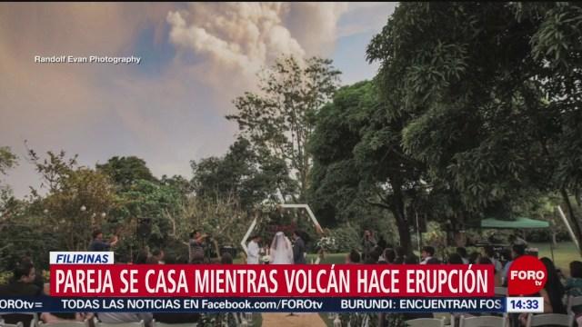 FOTO: espectaculares fotos de boda en plena erupcion del volcan taal en filipinas