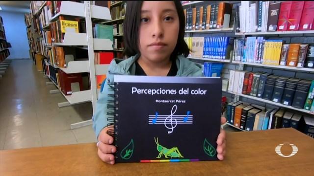 Foto: Estudiante Unam Libro Braile Identificar Colores,16 Enero 2020