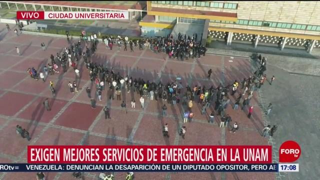 FOTO: estudiantes protestan pacificamente en rectoria de la unam