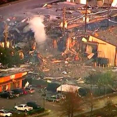 Foto: Se registra fuerte explosión en una planta industrial en el nordeste de Houston, en Texas, 24 enero 2020