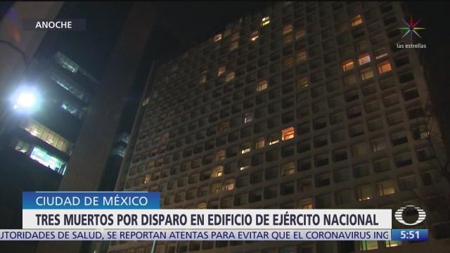 Mueren tres hombres por balacera en edificio de Ejército Nacional, en CDMX