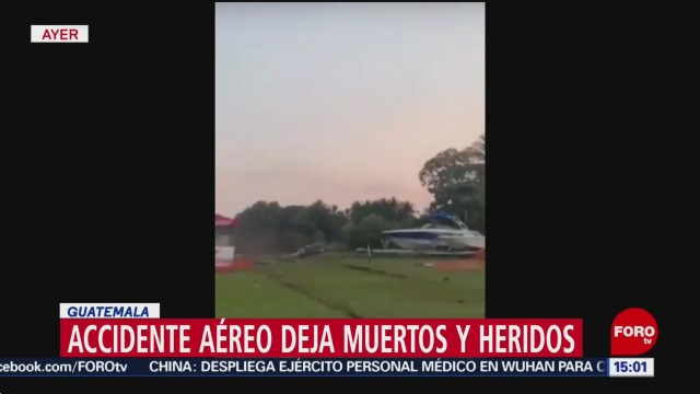 FOTO: 25 enero 2020, fallecen tres tras accidente de avion acrobatico en guatemala