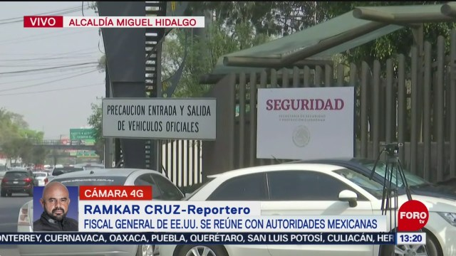 FOTO: fiscal general de eeuu se reune con autoridades mexicanas