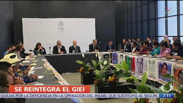 formal reincorporacion del giei en investigacion del caso ayotzinapa