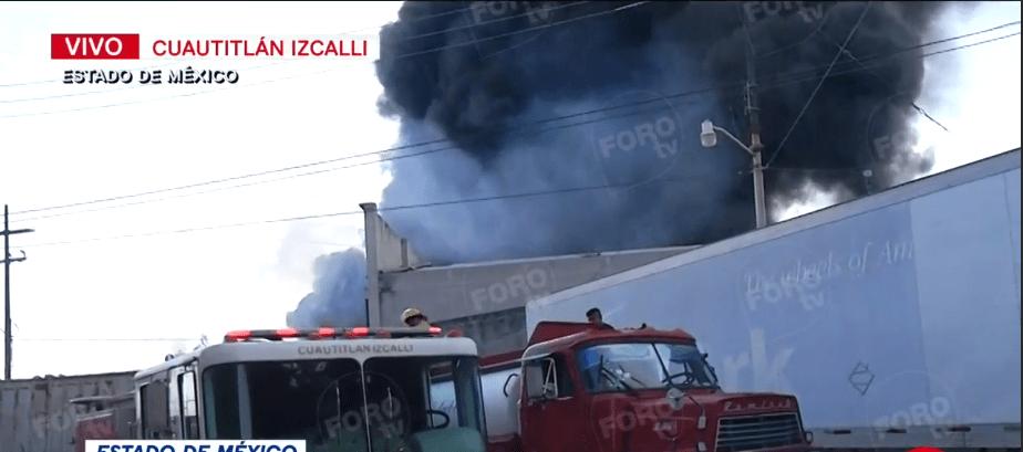 Foto: Este sábado se registra un incendio en fábrica de Cuatitlán Izcalli, 11 de enero de 2020 (Foro TV)