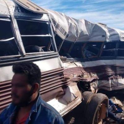 Tren embiste autobús de jornaleros en Vícam, Sonora; hay siete muertos