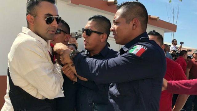 Foto: Agentes de la Policía Federal (PF) detuvieron al policía armado. Cuartoscuro