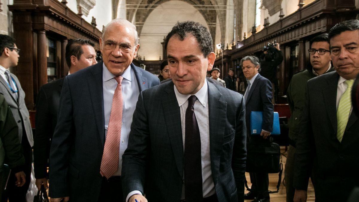 Foto: José Ángel Gurria, secretario general de la OCDE, y Arturo Herrera, secretario de Hacienda. Cuartoscuro