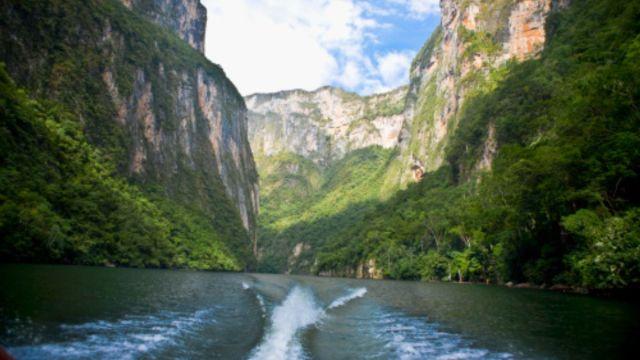 Foto: Imagen panorámica del Cañón del Sumidero. Getty Images/Archivo