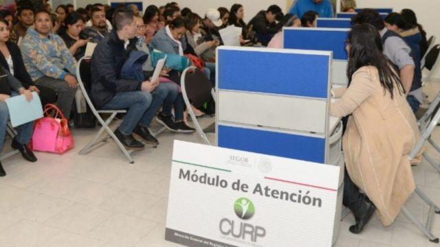Foto: Modulo para obtener las Claves Únicas de Registro de Población (CURP). Segob