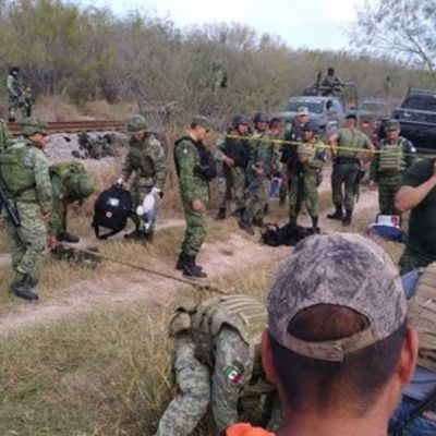 Foto: Militares accidentados en un canal de Reynosa, Tamaulipas.