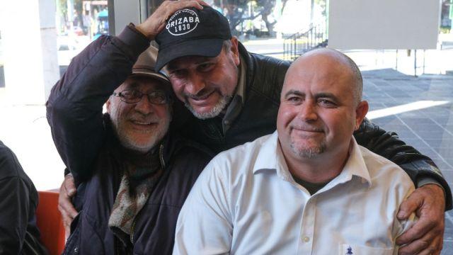 Foto: Javier Sicilia, Adrián LeBaron y Julián LeBaron. Cuartoscuro