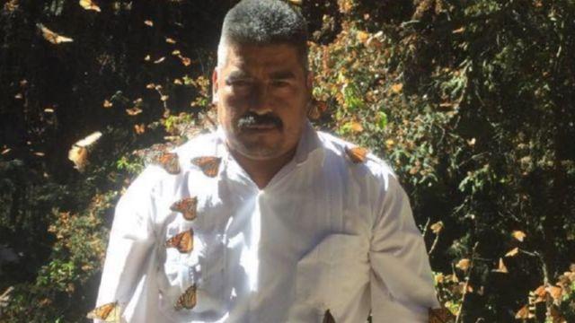 Foto: Homero Gómez, activista y promotor de la mariposa monarca.