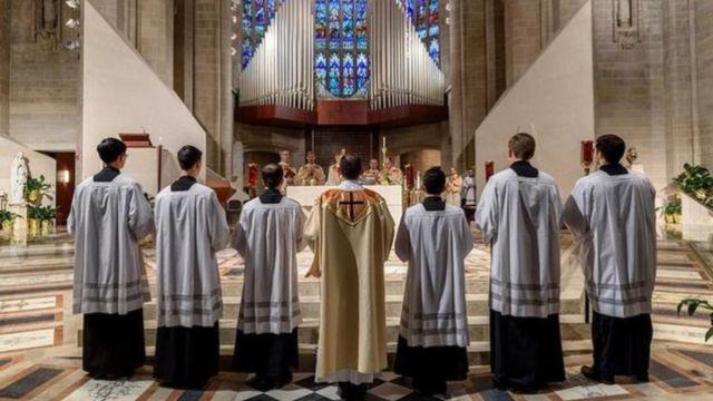 Foto: Una misa de los Legionarios de Cristo. Legionarios de Cristo/Facebook