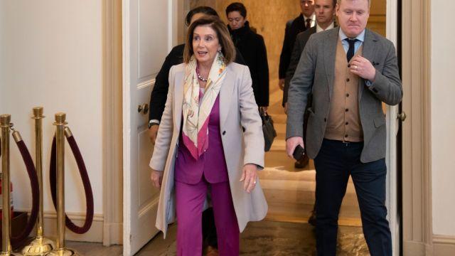 Foto: Nancy Pelosi, presidenta demócrata en la Cámara de Representantes. AP