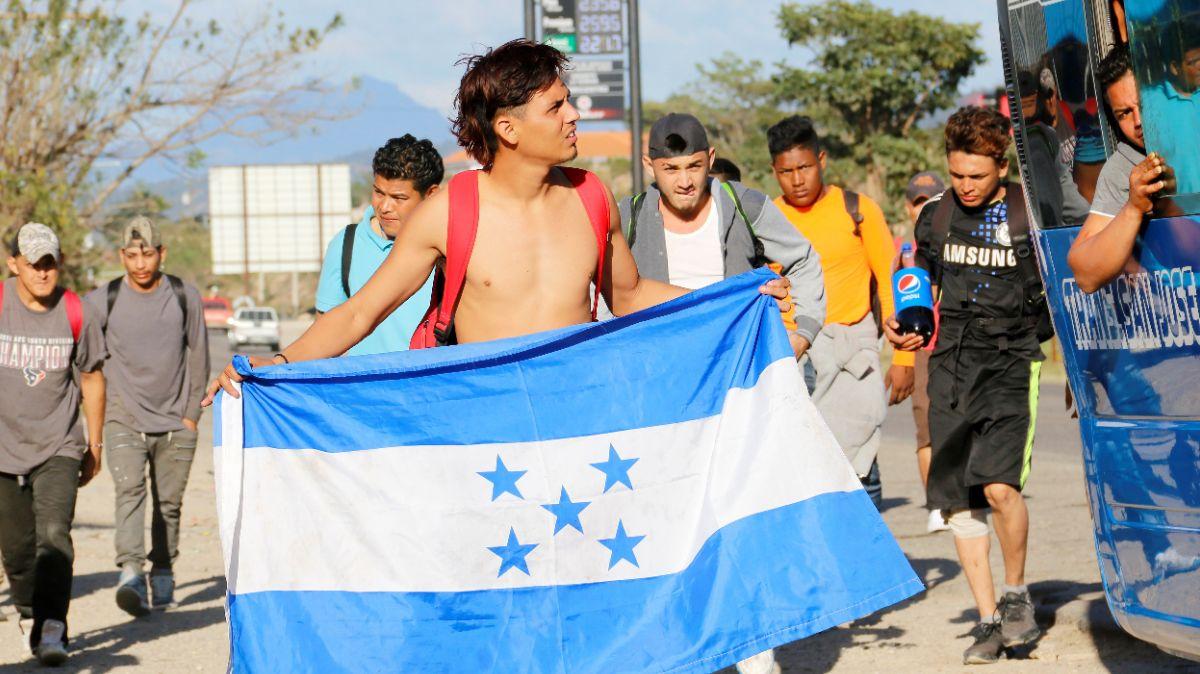 Foto: Caravana migrante de hondureños. Reuters
