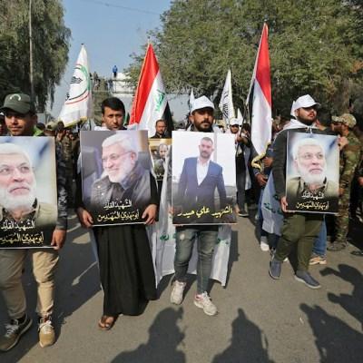Miles de iraquíes despiden a líder iraní Soleimaní en funeral en Bagdad