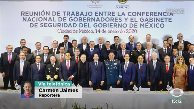 FOTO: gabinete seguridad se reune con gobernadores pais, 14 de enero del 2020