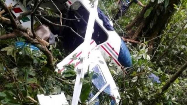 Foto: Una persona murió al desplomarse un helicóptero en el municipio de Tuzantán, Chiapas, 26 enero 2020