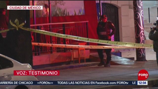 hombre dispara a otro en restaurante de la benito juarez