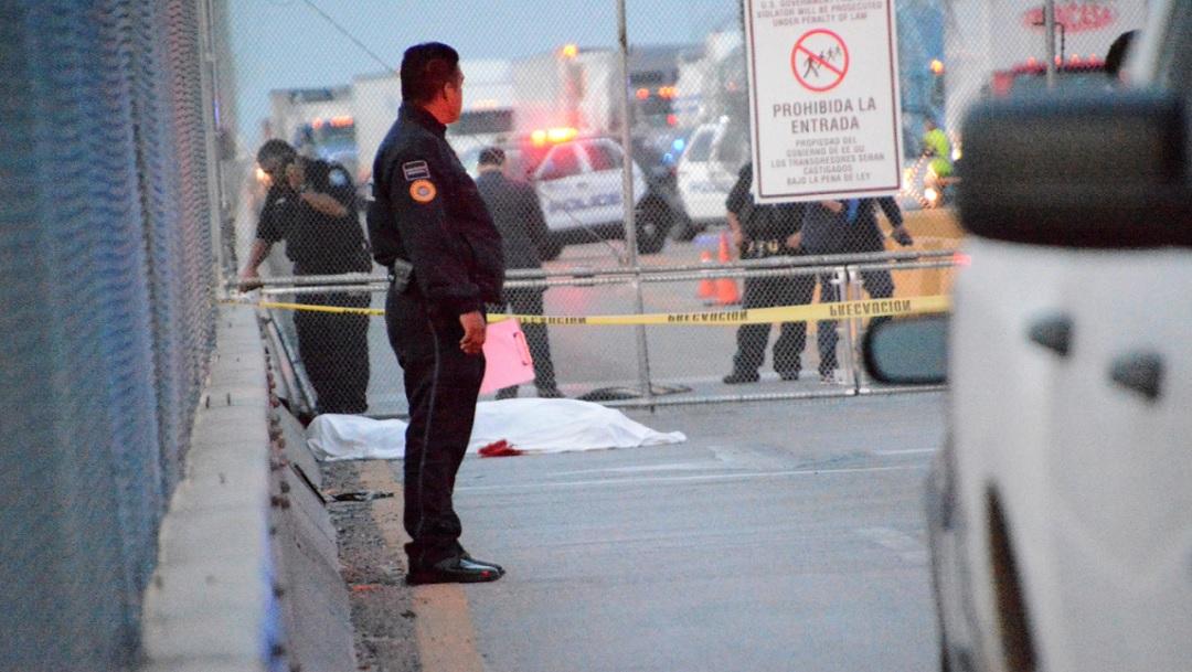 FOTO: Hombre que se degolló en el puente internacional de Reynosa-Pharr era de Tlalnepantla