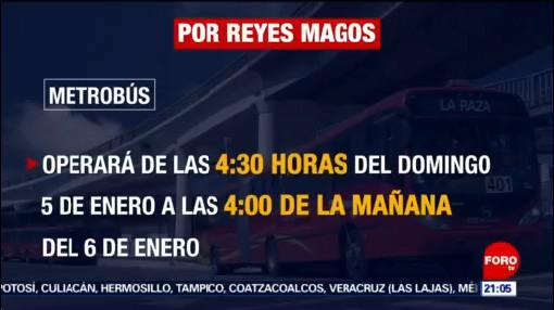 FOTO: 5 enero 2020, horario de operacion del transporte publico por reyes magos