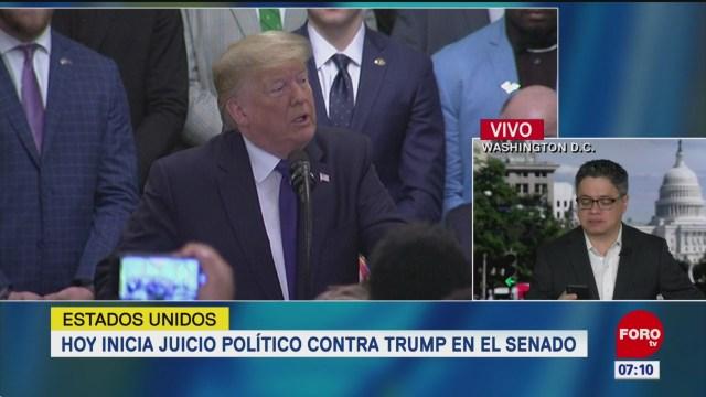 hoy inicia juicio politico contra el presidente donald trump