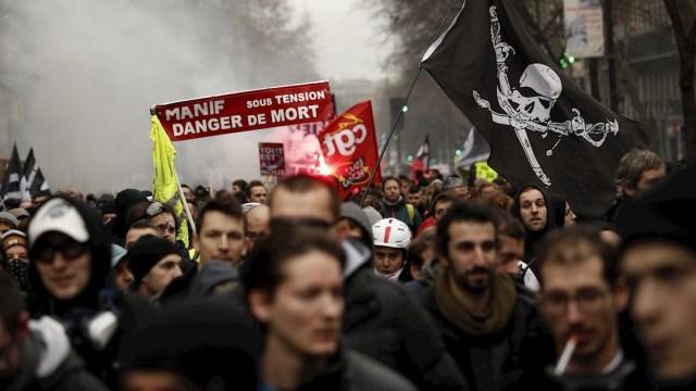 Foto: Manifestantes franceses, el 11 de enero de 2020