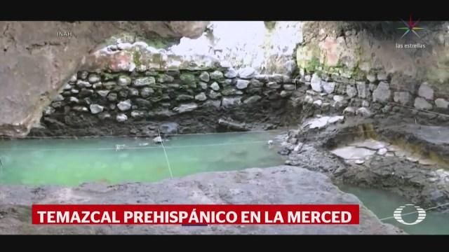 Foto: Inah Revela Hallazgo Temazcal Prehispánico La Merced 21 Enero 2020