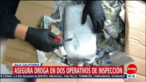 FOTO: 18 enero 2020, incautan varios paquetes con droga en baja california