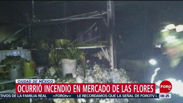 FOTO: 19 enero 2020, incendio en mercado de las flores en xochimilco consume 12 locales