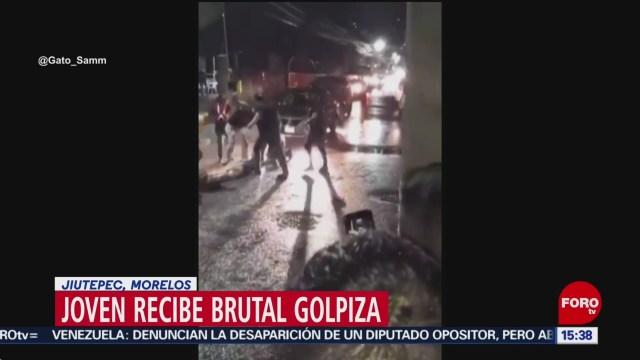 FOTO: joven recibe brutal golpiza en jiutepec morelos