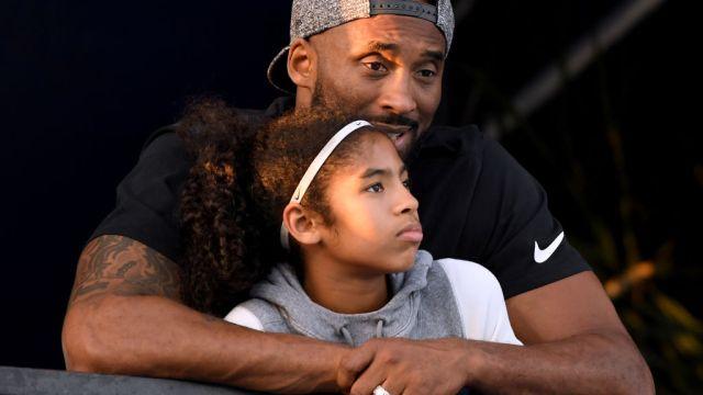 26/07/2018. Kobe Bryant Tragedias Aéreas Deporte Accidente Los Pleyers, Kobe Bryant junto a su hija.