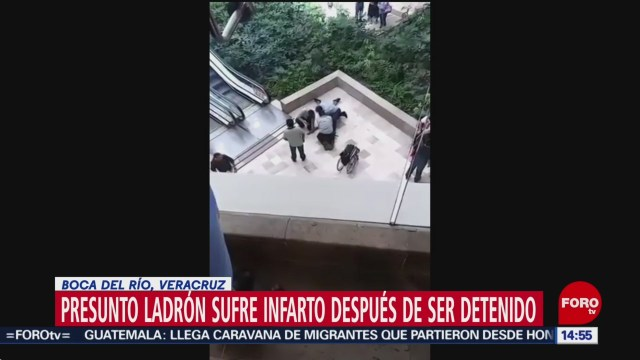 FOTO: ladron muere de infarto fulminante tras ser detenido